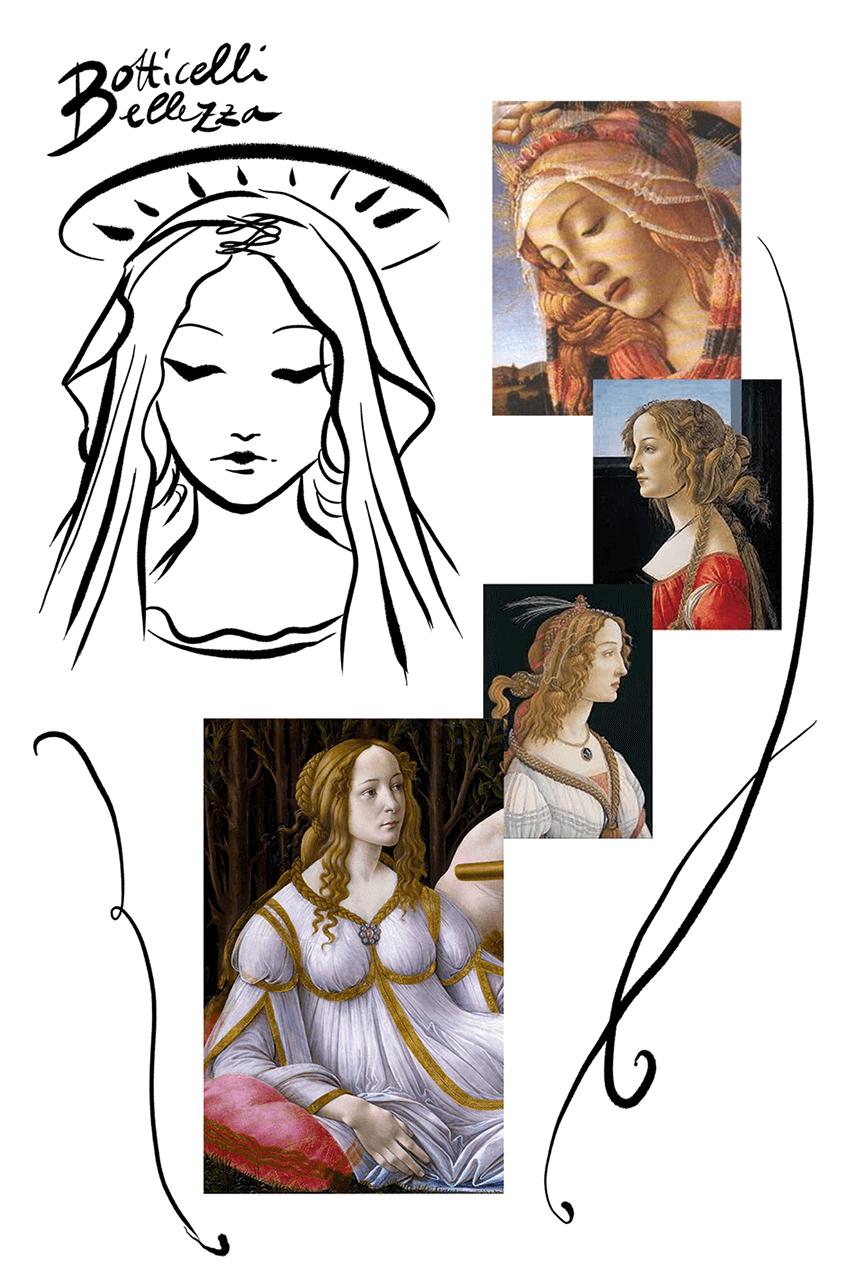 La modella musa ispiratrice dei pittori