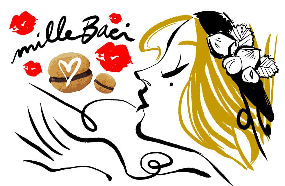 Amore biscotti nocciole e cioccolato