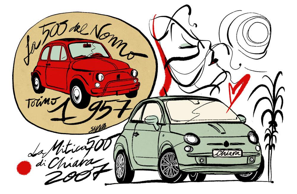 Fiat 500 nuova e Fiat 500 vecchia