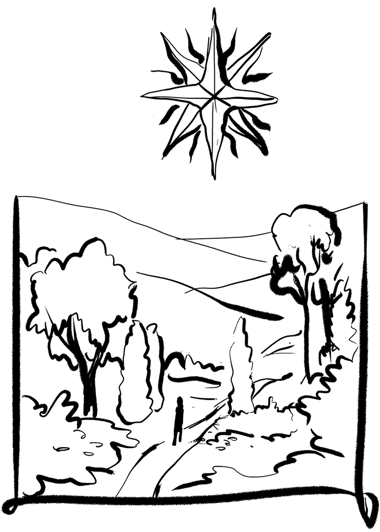 Disegno giardino