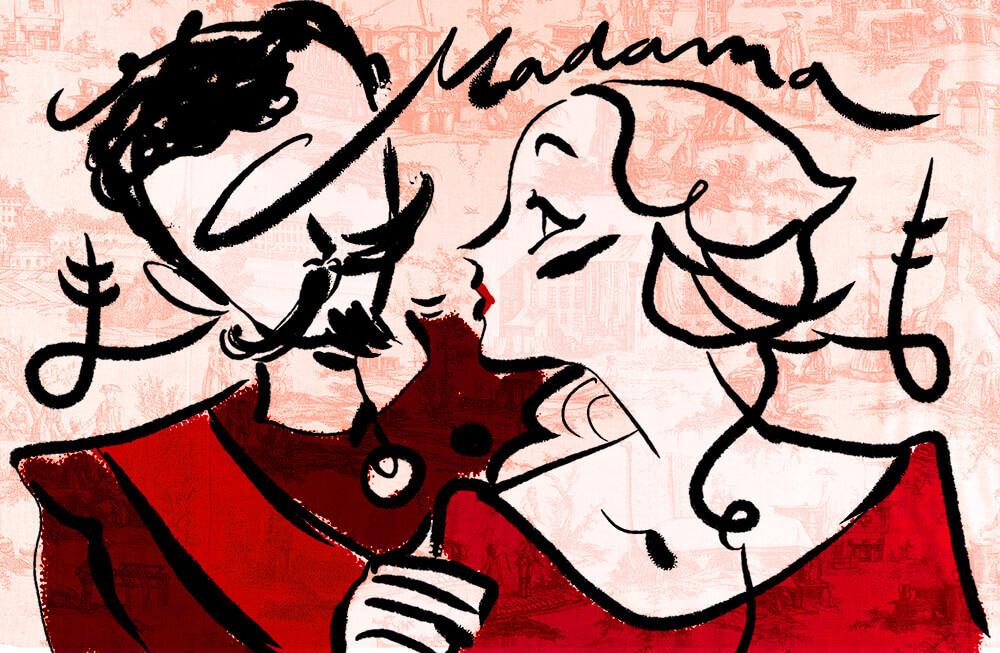 Amore dama nel 1800