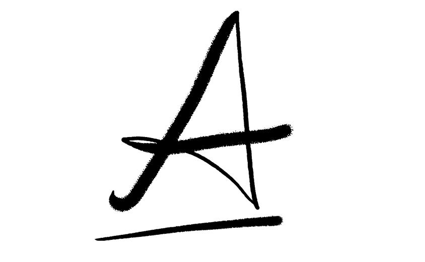 Scritta lettera A
