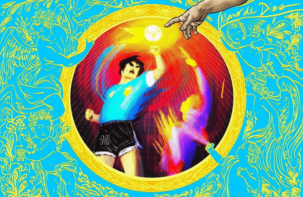 Maradona mano de dios emblema