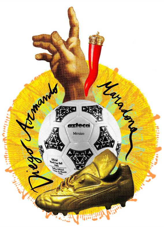 Diego Maradona pallone calcio