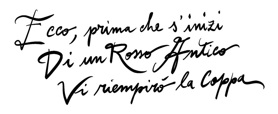 Rosso Antico liquore italiano citazione