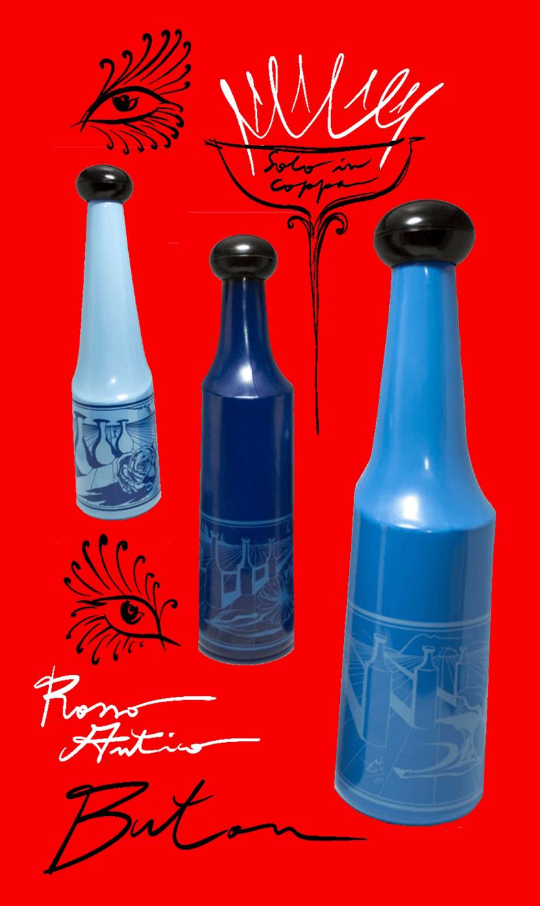 Salvador Dali bottiglie Rosso Antico