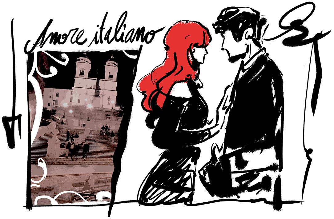 Fumetto amore a Roma