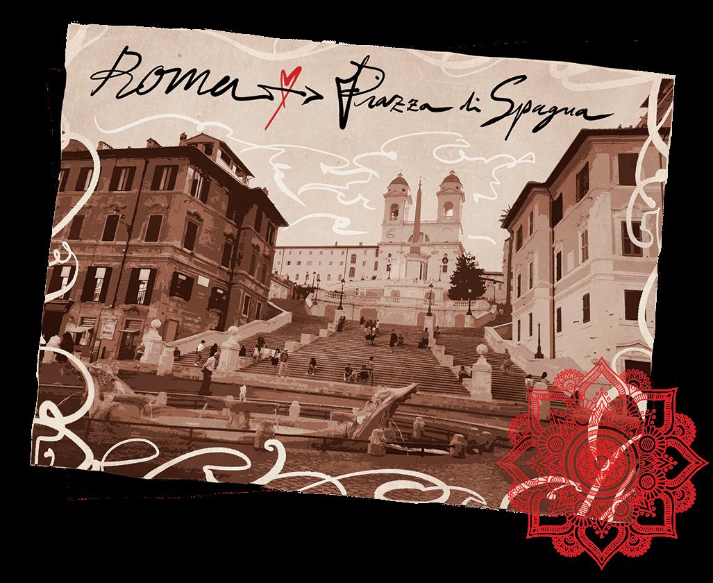 Roma Piazza di Spagna cartolina
