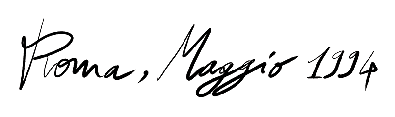 Roma scritta a mano