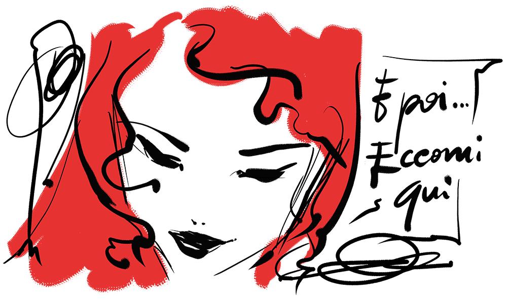 capelli rossi disegno Sophie