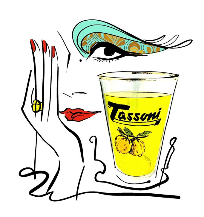 Bicchiere di cedrata Tassoni