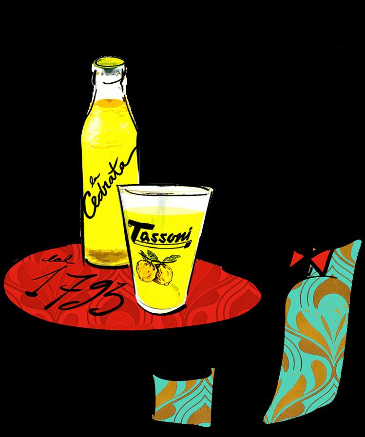 Cedrata tassoni bottiglia al bar